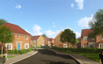Danescroft and Bewley Homes have obtained resolution to grant planning permission for 75 New Homes in Clockbarn Nurseries, Send.
